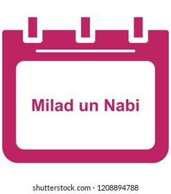 Milad un nabi, Milad un nabi calendar Special Event day Vector icon that can be easily modified or edit.