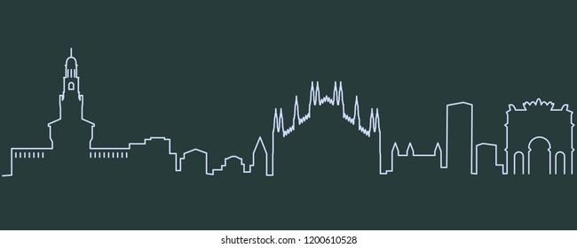 Milan Single Line Skyline