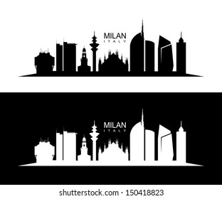 Milan skyline - vector illustration