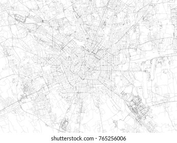 Milan streets, city map, Italy, streets