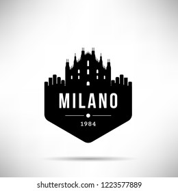 Milano City Modern Skyline Vector Template