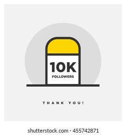 Milestone 10000 Followers! (Vector Design Template For Social Networks Thanking a Large Number of Subscribers or Likes)