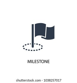 Milestone icon. Simple element illustration. Milestone symbol design from Project management collection. Can be used for web and mobile.