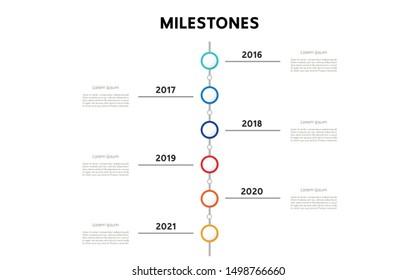 Milestone of the year. Vector illustration