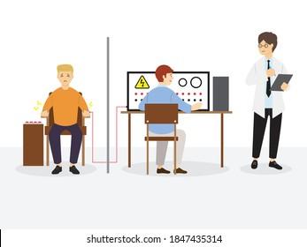 Milgram Experiment on Obedience, Social Psychology, Vector Illustration