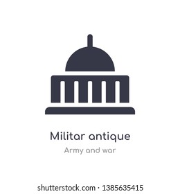 militar antique building icon. isolated militar antique building icon vector illustration from army and war collection. editable sing symbol can be use for web site and mobile app