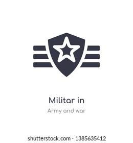 militar in icon. isolated militar in icon vector illustration from army and war collection. editable sing symbol can be use for web site and mobile app