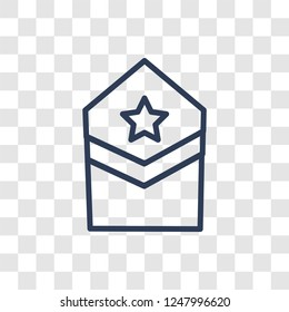 Militar Insignia icon. Trendy linear Militar Insignia logo concept on transparent background from army and war collection