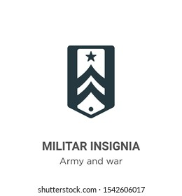 Militar insignia vector icon on white background. Flat vector militar insignia icon symbol sign from modern army and war collection for mobile concept and web apps design.