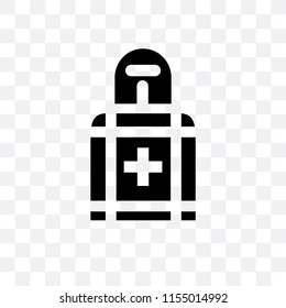 Militar man with protection equipment vector icon isolated on transparent background, Militar man with protection equipment logo concept