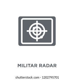Militar Radar icon. Militar Radar design concept from Army collection. Simple element vector illustration on white background.