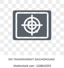 Militar Radar icon. Militar Radar design concept from Army collection. Simple element vector illustration on transparent background.