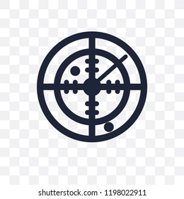 Militar Radar transparent icon. Militar Radar symbol design from Army collection.