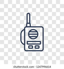 Militar Radio icon. Trendy linear Militar Radio logo concept on transparent background from army and war collection