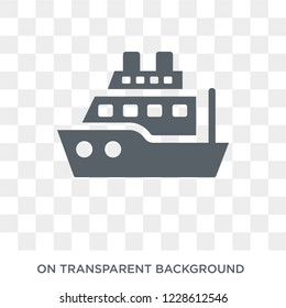 militar ship icon. militar ship design concept from Army collection. Simple element vector illustration on transparent background.