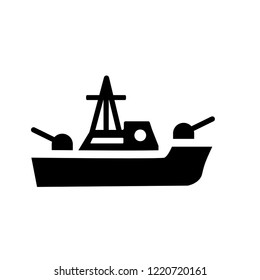 militar ship icon. Trendy militar ship logo concept on white background from army and war collection. Suitable for use on web apps, mobile apps and print media.