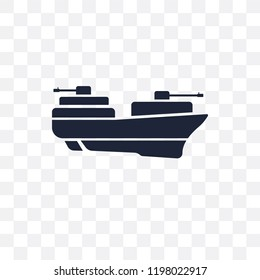 militar ship transparent icon. militar ship symbol design from Army collection.