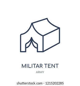 Militar Tent icon. Militar Tent linear symbol design from Army collection.