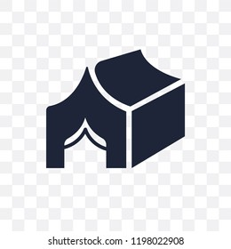Militar Tent transparent icon. Militar Tent symbol design from Army collection.
