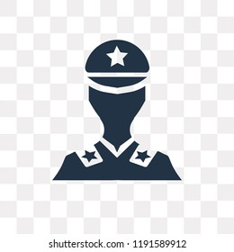 Militar vector icon isolated on transparent background, Militar transparency concept can be used web and mobile