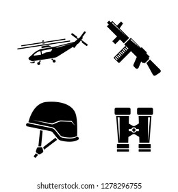 Military Ammunition. Simple Related Vector Icons Set for Video, Mobile Apps, Web Sites, Print Projects and Your Design. Military Ammunition icon Black Flat Illustration on White Background.