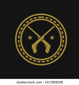 Military Armament Logo Design Vector