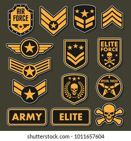Military army badges