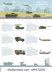 Military army big set of base information infographics background