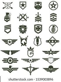 military army design symbol set