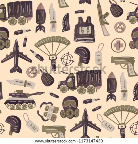 Military Army Seamless Pattern Vector Icon Stock Vector Royalty