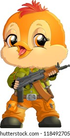 military with automatic weapons