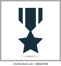 Military award icon on the background