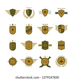 MILITARY BADGES VECTOR