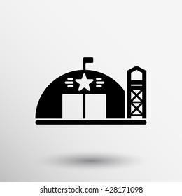 military barracks station icon airstrikes architecture army.