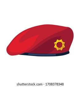 Military beret vector icon.Cartoon vector icon isolated on white background military beret.