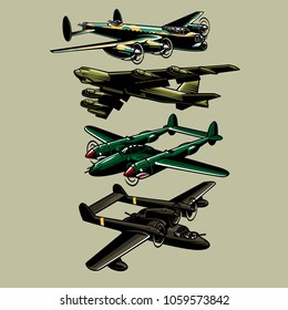 military big plane aircraft vector