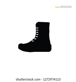 Military boots.Boots for soldiers.vector illustration.