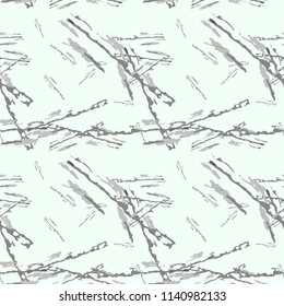 Military camouflage seamless pattern in light green and different shades of grey color. Seamless repeat UFO camouflage pattern, usable as winter camoflauge urban print, bright backdrop, background etc