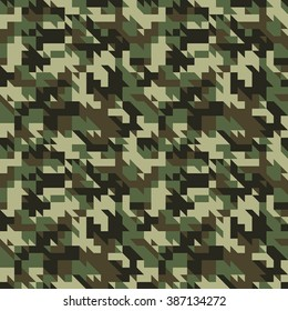 Military camouflage seamless pattern. Vector and Illustration