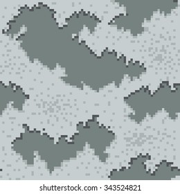 Military Camouflage Textile Seamless: USA, 2001, MARPAT Winter - Vector Illustration with Pattern in Swatches Panel