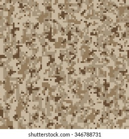 Military Camouflage Textile Seamless: USA, 2010, NWU-2 (Navy Working Uniform Type 2) Desert - Vector Illustration with Pattern in Swatches Panel