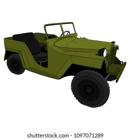 the military car vector drawing illustration
