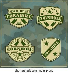 Military Corn hole Logos