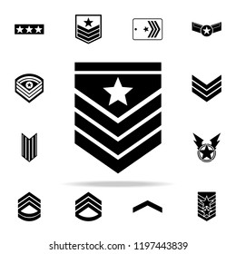 military epaulettes icon. Army icons universal set for web and mobile