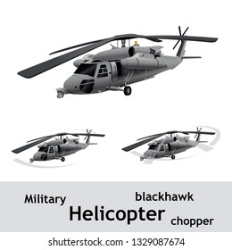 Military Helicopter Design vector