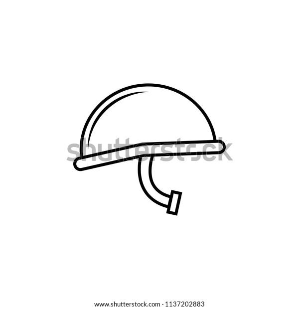 Military Helmet Icon Element Popular Army Stock Vector