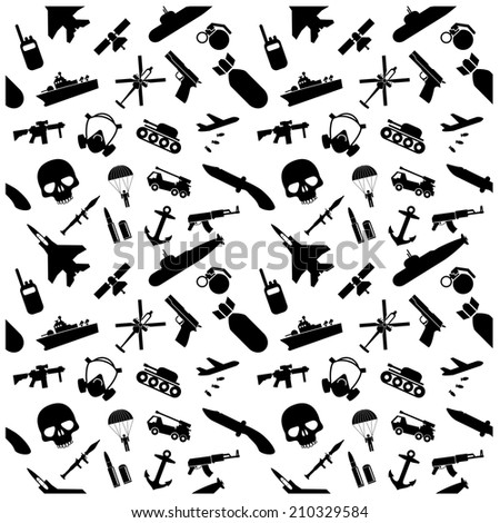 Military Icons Background Stock Vector Royalty Free 210329584