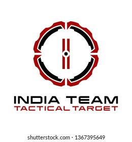 Military of I Letter Tactical Target Logo Design.