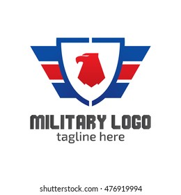 Military logo design template