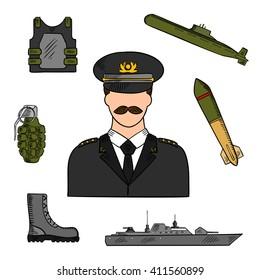 Royal Thai Navy Officer Cap Uniform Naval Soldier Thailand White Hat Original